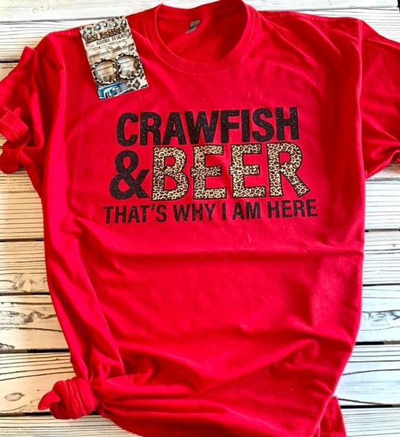 Crawfish & Beer Tee - Face 2 Soul Beauty Boutique