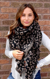 Leopard Triangle Blanket Scarf - Face 2 Soul Beauty Boutique