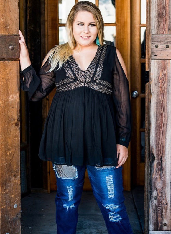 Bringing Out The Best In Me Curvy Blouse - Face 2 Soul Beauty Boutique