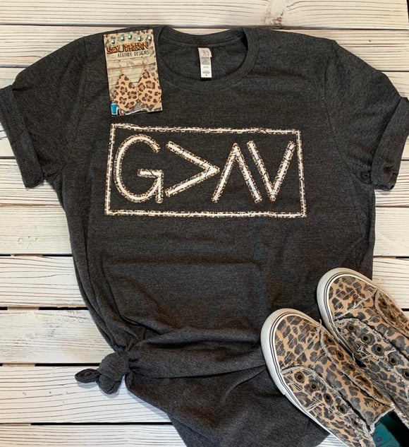 God is Greater Than The Highs & Lows Tee - Face 2 Soul Beauty Boutique
