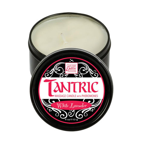 Tantrc Soy massage Candle with Pheromones - White Lavender