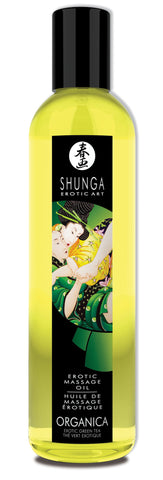 Shunga Massage Oil Organica (Green Tea)