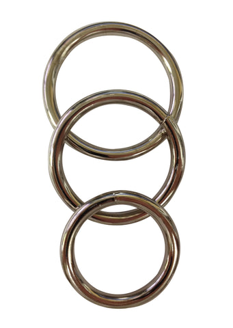 Sportsheets Metal O-Ring 3 Pack