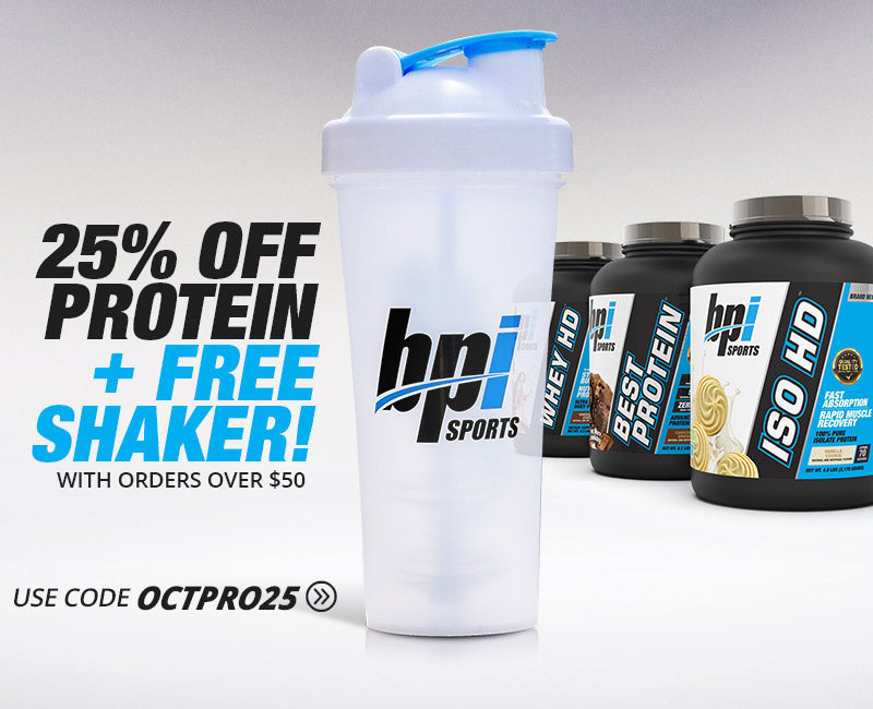 25% Off Proteins + Free Shaker with Orders Over $50