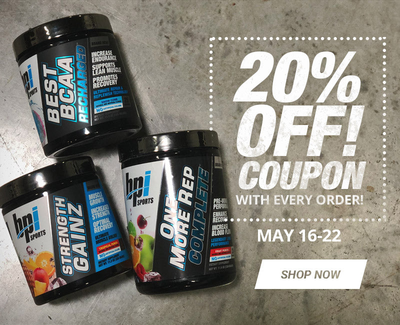 20% Off Coupon with Every Purchase!
