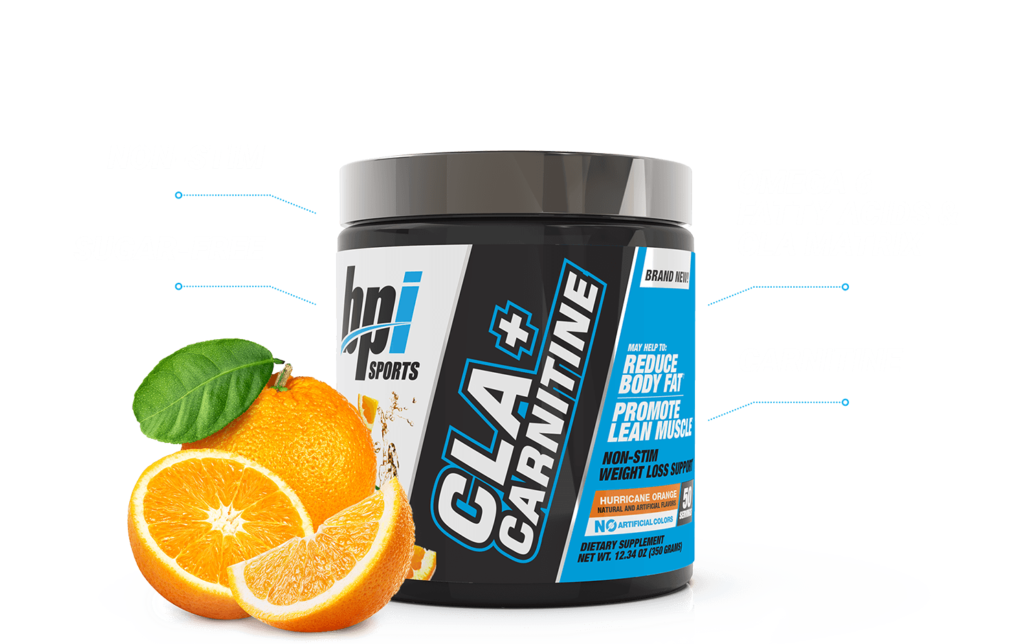 CLA + Carnitine - Non-Stimulant Weight Loss (50 Servings) Showcase