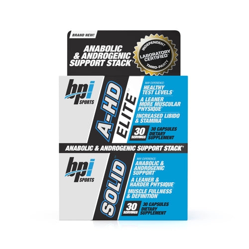 A-HD Elite™ / Solid™ - Testosterone Support (30 Servings)