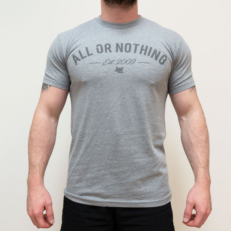 BPI Sports All or Nothing mens workout t-shirt