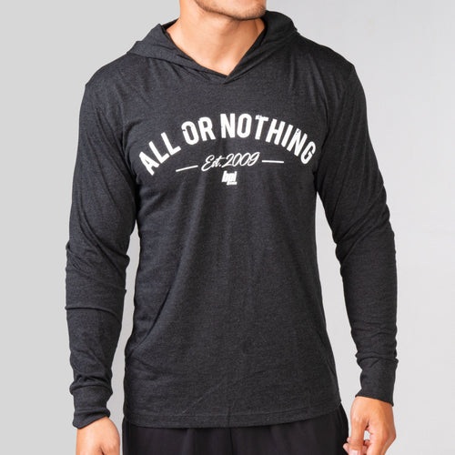 All or Nothing Unisex Long Sleeve Hooded Tee - Dark