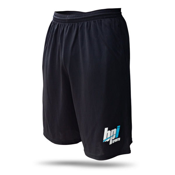BPI Sports black gym shorts for men