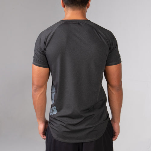back of the BPI Sports men performance t-shirt