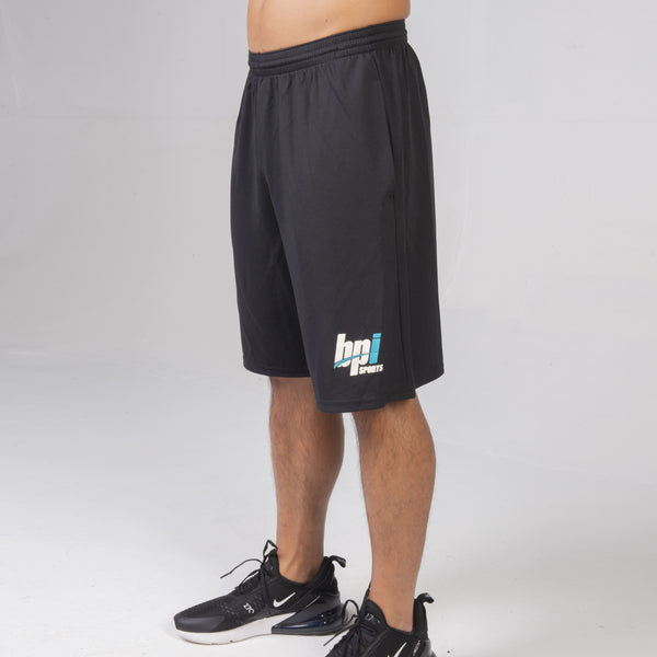 BPI Sports black mens gym shorts