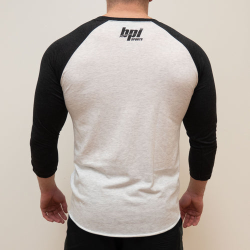 BPI Sports Integrity mens and womens long sleeve baseball t-shirt back