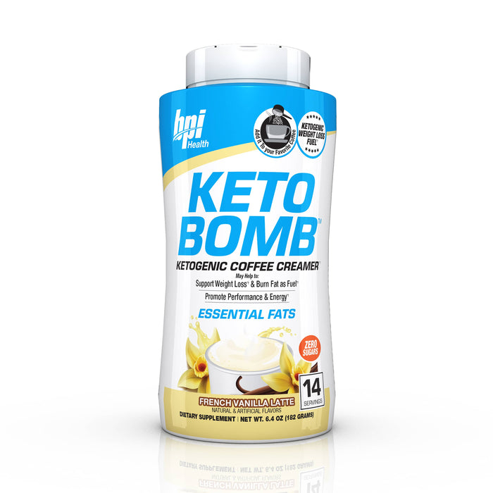 BPI Sports Keto Bomb French Vanilla Latte - 14 Servings