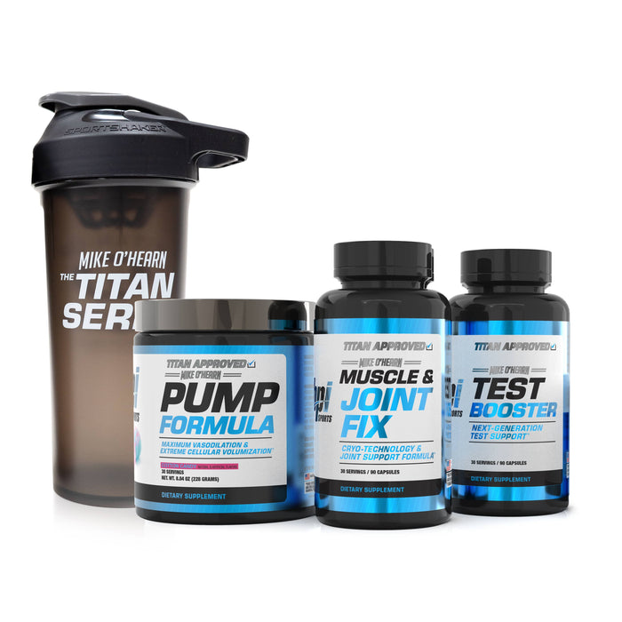 The BPI Sports Mike O'Hearn Titan Series Super Stack With Pump Formula Cotton Candy