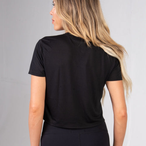 Back of the BPI Sports Women's POWerful Crop Top
