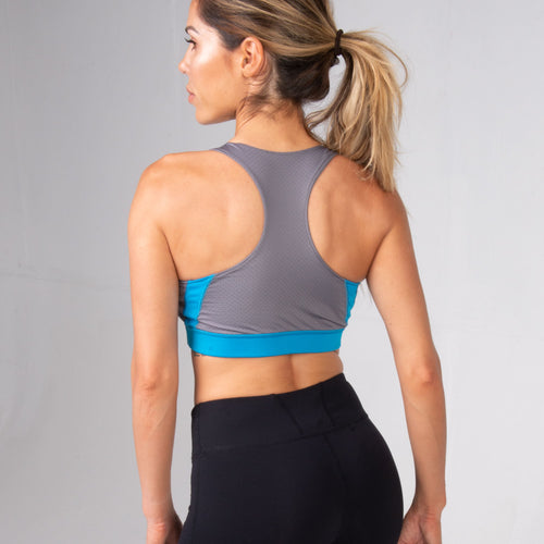 Back of woman wearing the BPI Sports Women's Sports Bra