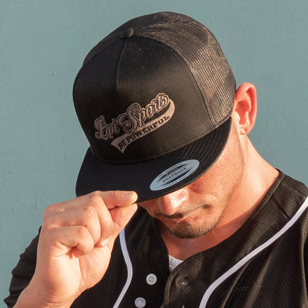 man wearing black BPI Sports trucker hat