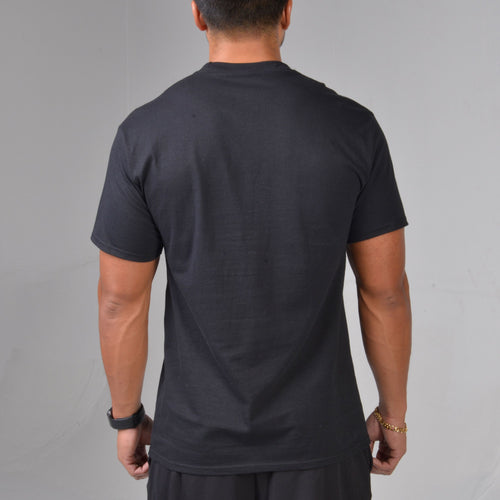 Back shot of the BPI Sports Workout List Tee in black