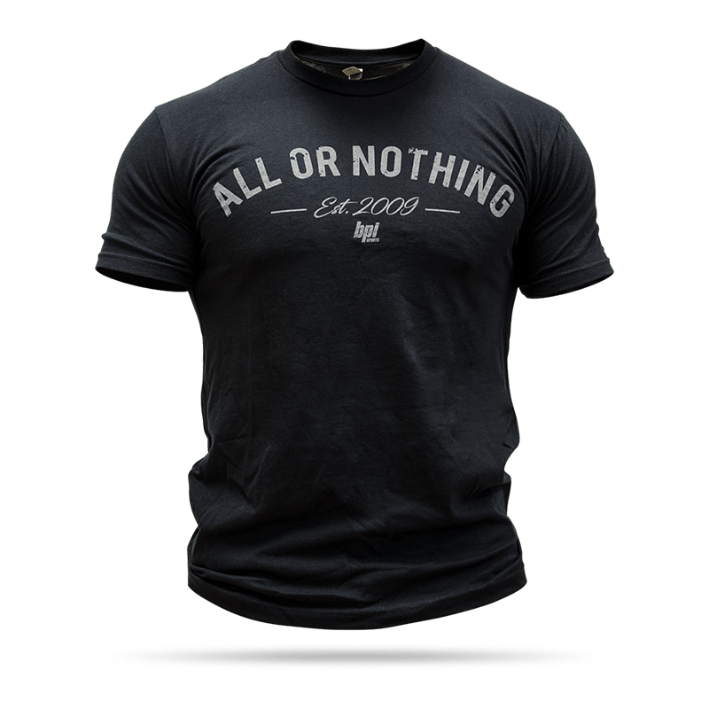 All or Nothing Crew Neck Tee - Dark