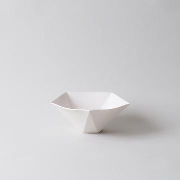 Pentagon Bowl WIDE, Porcelain
