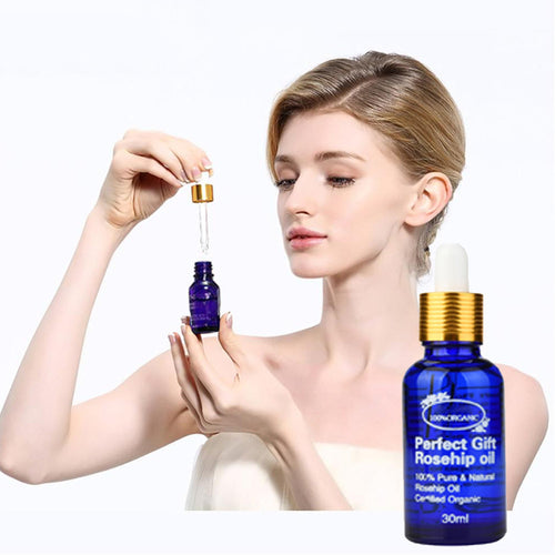 Dazzling Girl Store Health and Beauty Beauty Organic Rosehip Oil For Hair & Face Organic Pure Natural Cold Pressed Unrefined Oil