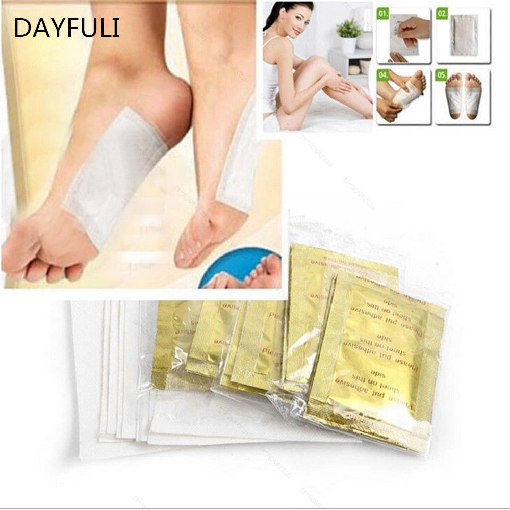 TOPHOT 10PCS GOLD Premium Detox Foot Pads Organic Herbal Cleansing Health Care