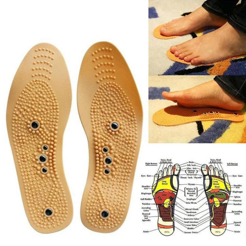 1Pair Foot Care Massage Wellness Insoles Magnetic Therapy Magnet Health Care Antiperspirant Comfort Insoles Pads Z3