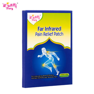 Ifory 12 Pieces/2 Boxes Health Care Pain Patch 7X10cm Neck Back Pain Relief Plaster Porous Self Adhesive Same as Salonpas