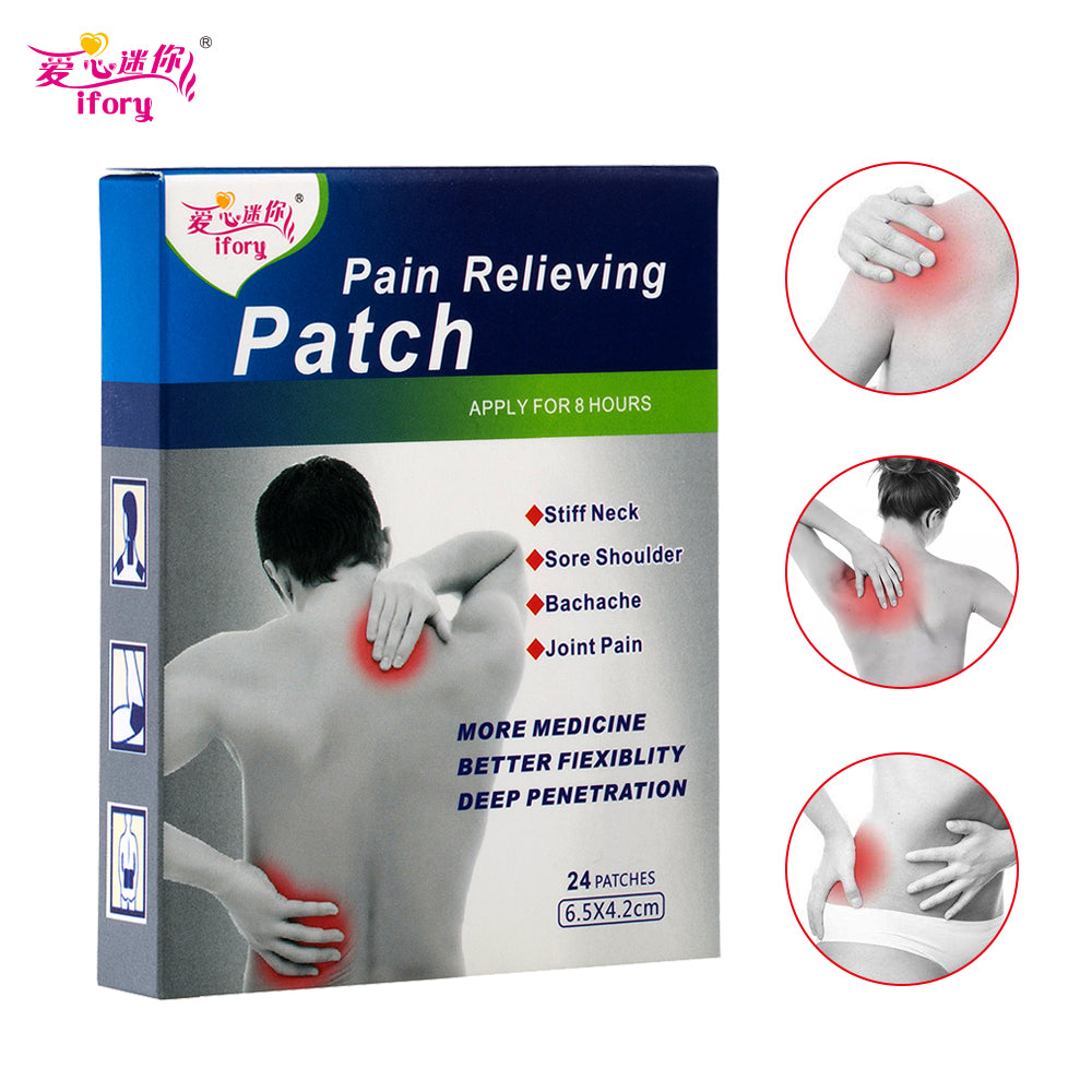 ifory Brand 24 Pieces Menthol Analgesic Plaster Same as Salonpas Pain Patch Relief Muscle Aches Treatment Herbal Pain Patch