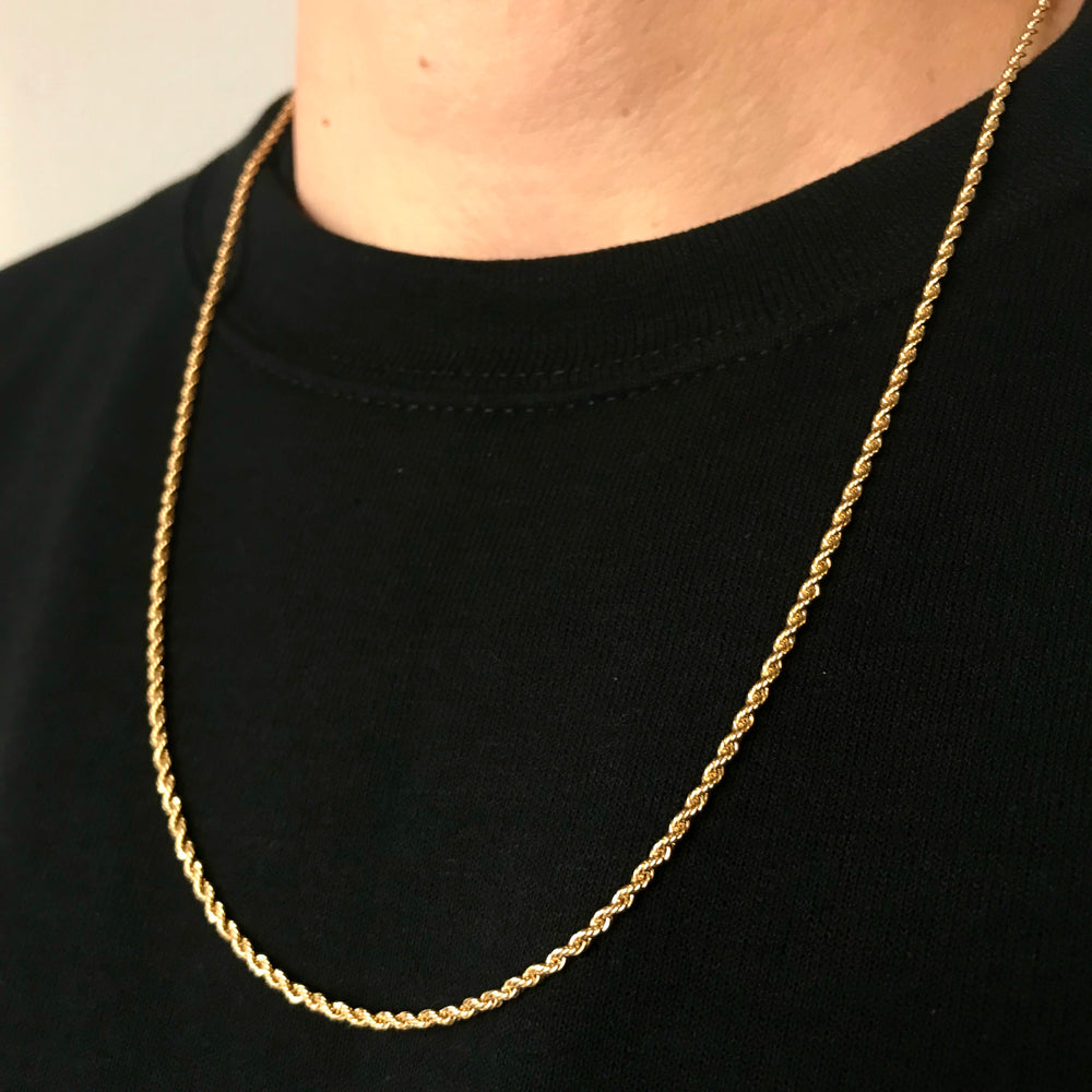 Vintage 18K Gold Rope Chain