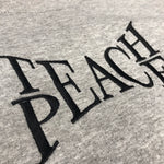 VINSTINCTS Teach Peace Crewneck Sweatshirt