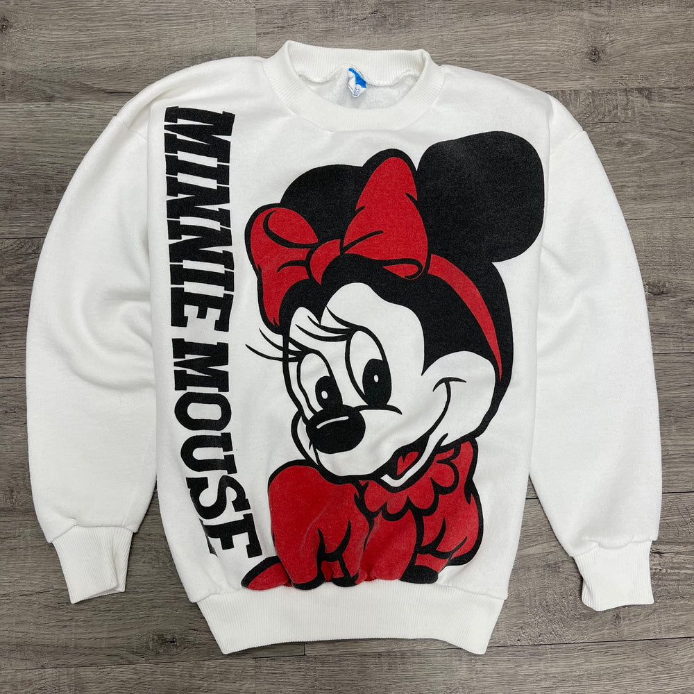 Vintage 1980's DISNEY Minnie Mouse Double Sided Sweatshirt
