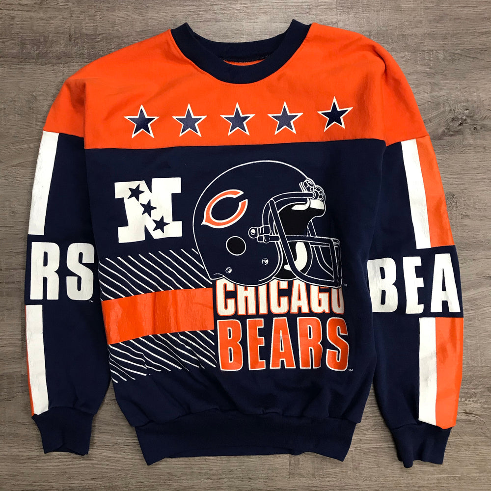 Vintage 90's NFL Chicago BEARS All Over Print Sweatshirt
