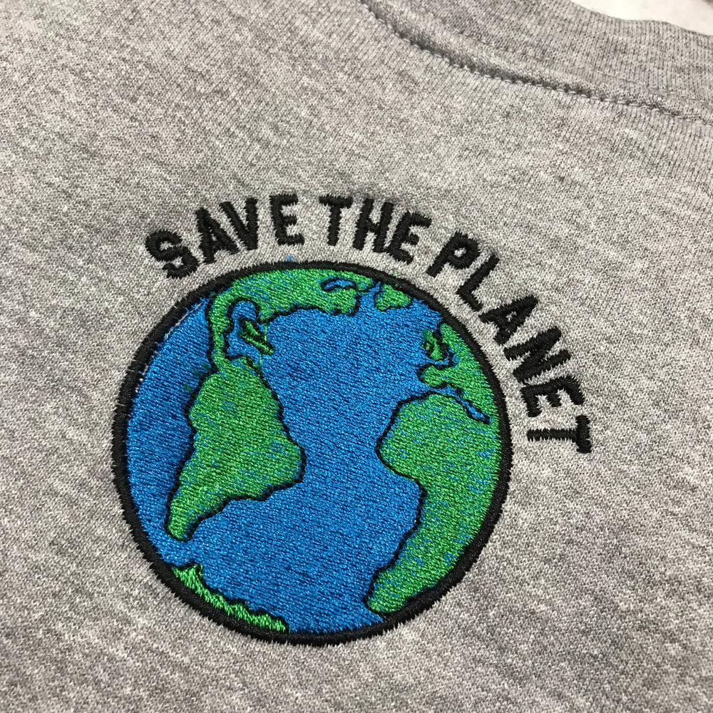 VINSTINCTS Save The Planet Crewneck Sweatshirt
