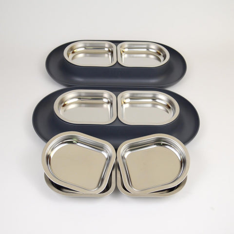 Hepper Big Bundle<p>2 Grey NomNom Dishes  +4 Extra Bowls