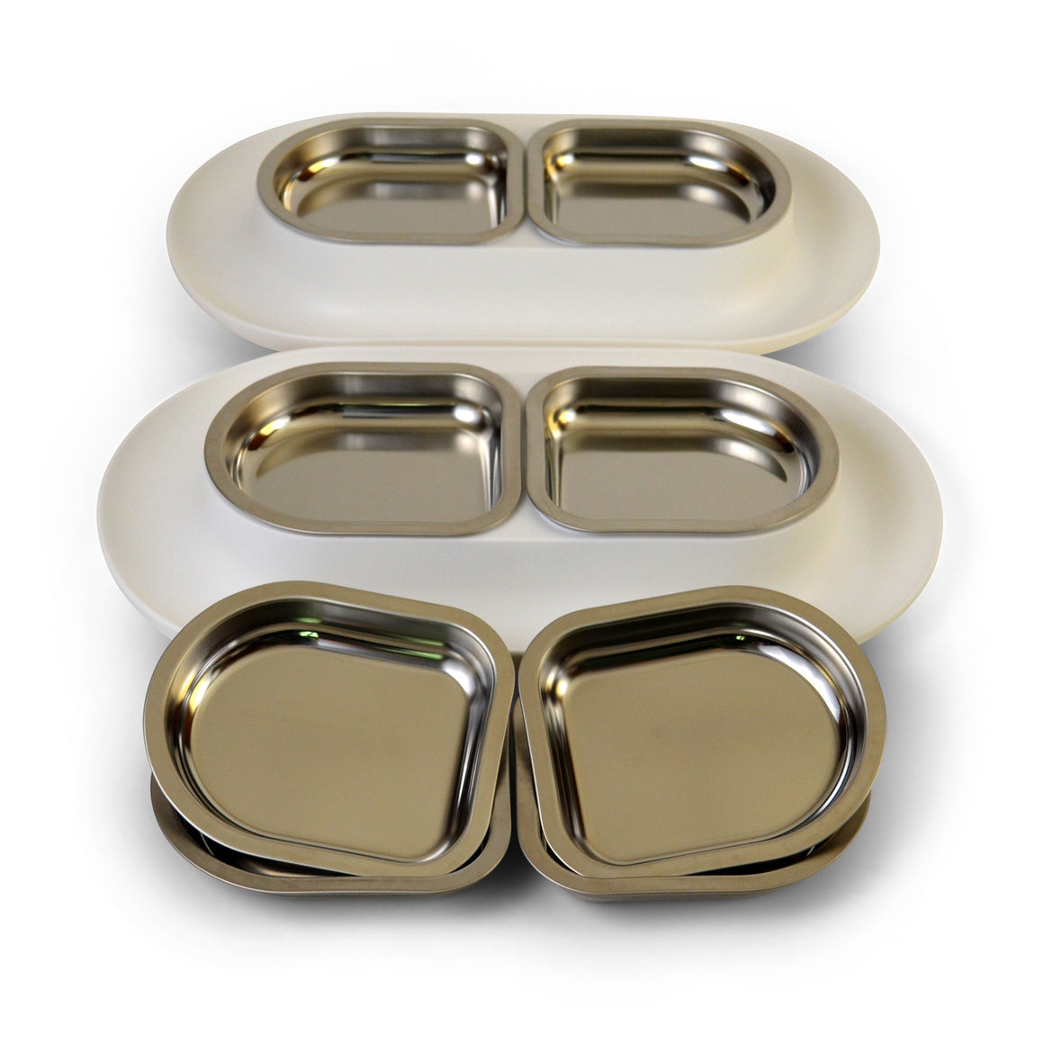 Hepper Big Bundle<p>2 White NomNom Dishes  +4 Extra Bowls