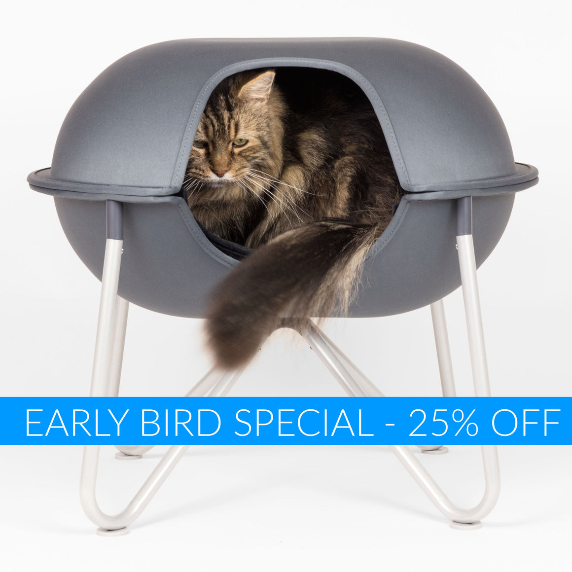 EARLY BIRD SPECIAL! Hepper Pod Pet Bed / Grey