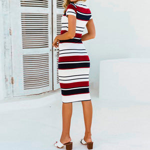 Stripe Party Sheath Dress