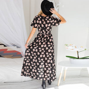 Women Summer Vintage Wrap Dress