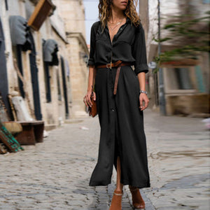 Split Hem Long Dress