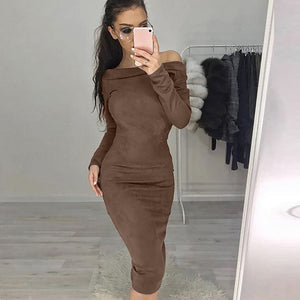 Ladies Huge Suede Dress