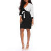 sash wrap short dress female