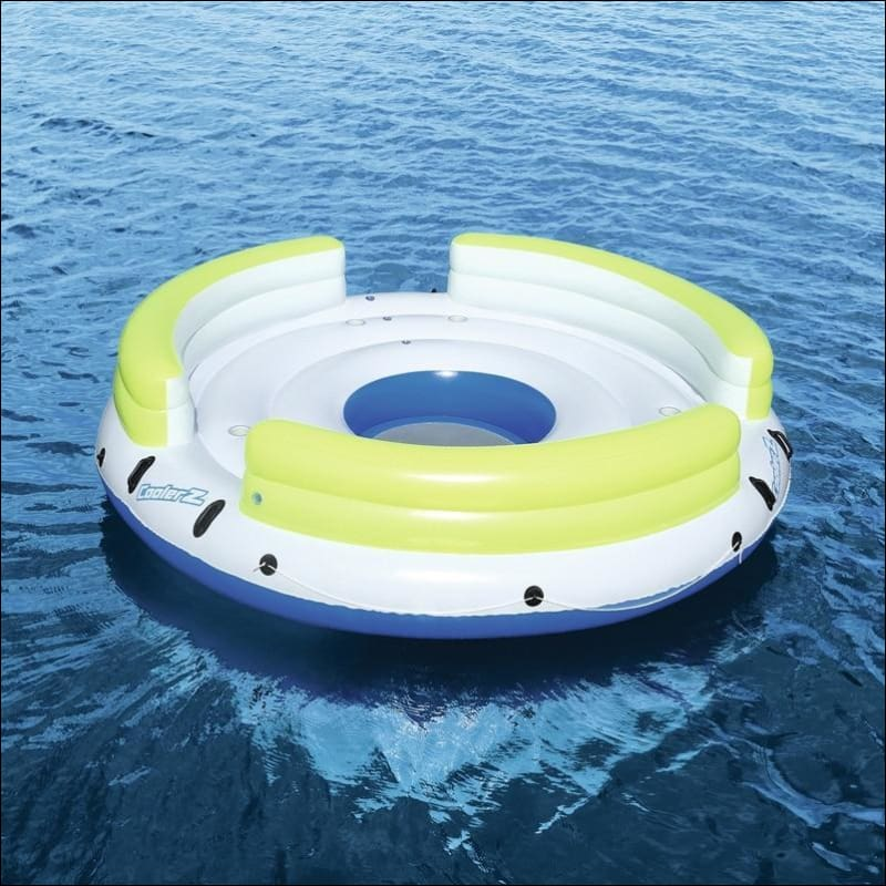 6 Person Giant Inflatable Round Lazy Day Party Island Float Boat Swimming  Pool Floats Sea Longue Bed Water Toys Lake Raft