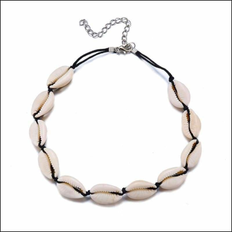 Han Angel Shops Bohemian Cowrie Conch Shell Pendant Necklace For