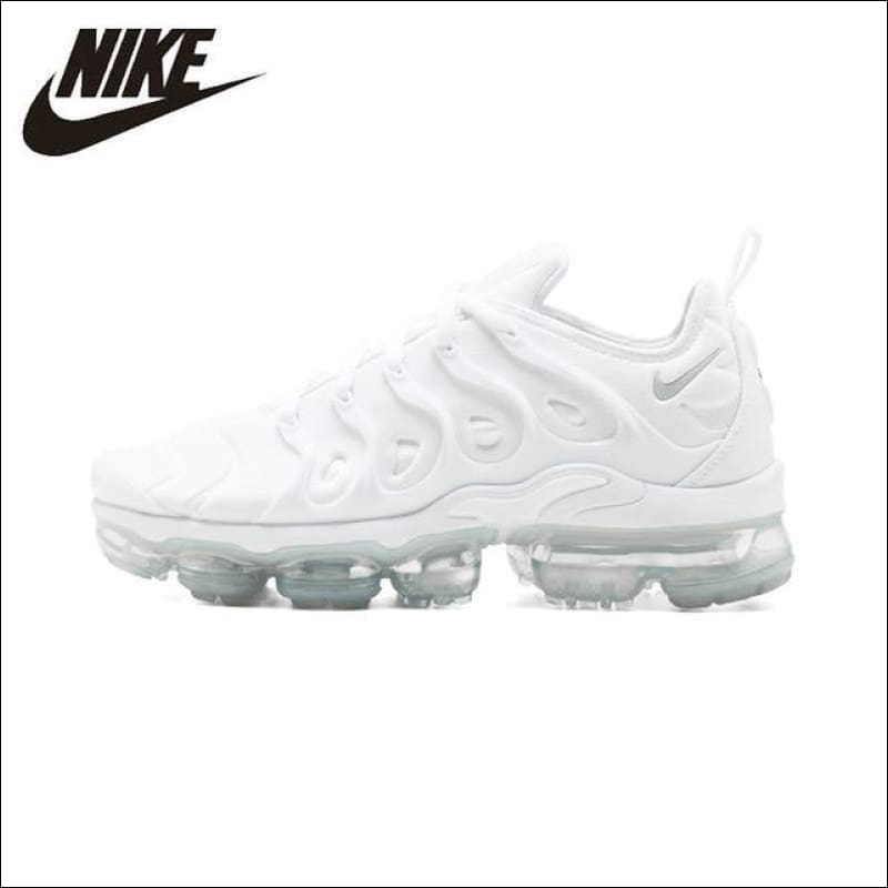 Nike Air Vapormax Plus Original Men Running Shoes White Breathable Sports Outdoor Sneakers #924453 100