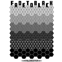 playera fade to black blanco negro