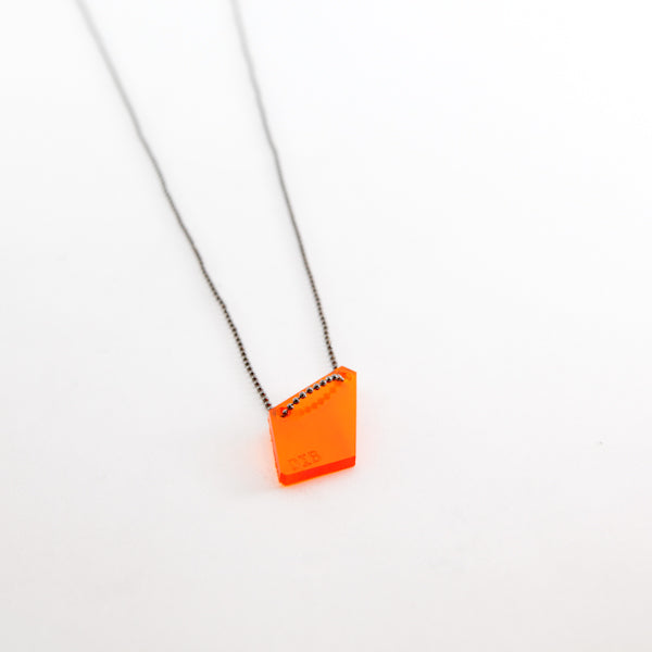 Collar Lazer Cut 2 (naranja)