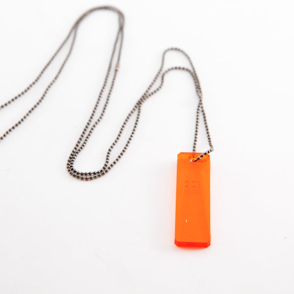Collar Lazer Cut 1 (naranja)