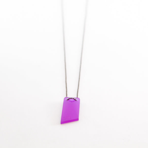 Collar Lazer Cut 2 (morado)